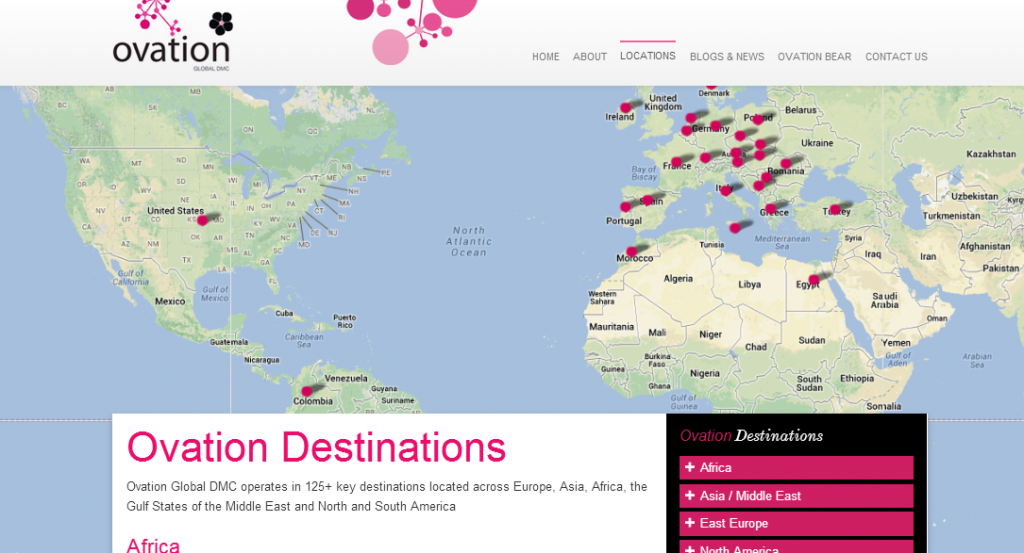 OvationDMC Responsive Web Design by DotDash - Map